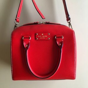 Kate Spade Red Cross body Purse with Handles